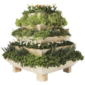 Plantepyramide i træ